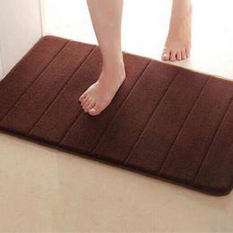 Wholesale cm Memory Foam Bath Mats Bathroom Horizontal Stripes Rug Absorbent Non slip Bath Mats