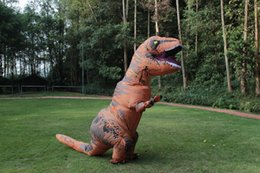 Wholesale Newest Inflatable Dinosaur TREX Costume Jurassic World Park Blowup Dinosaur Cosplay Inflatable Costume Party Costume For Adult