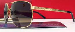 Франция человек Онлайн-новые люди бренда дизайнерские солнцезащитные очки солнцезащитные очки квадратный винты логотип ноги T8200881 Франция дизайнер ретро-стиле с золотым покрытием зеркало линзы