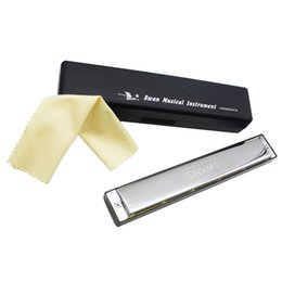 Wholesale High Quality Key of D Double Holes Tremolo Harmonica Mouth Organ with Reeds Woodwind Instruments