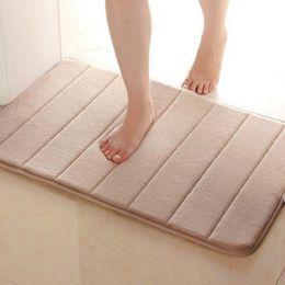 Wholesale Useful cm Memory Foam Bath Mats Bathroom Horizontal Stripes Rug Absorbent Non slip Bath Mats