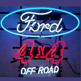 """Ford 4X4 Off Road Neon Sign Custom Real Glass Tube Light Car Truck Store Advertisement Repair Logo Garage Display Neon Signs 24""""x20"""""""
