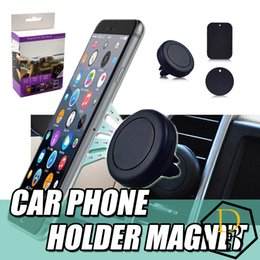 Wholesale Magnetic Dashboard Car Air Vent Cell Phone Mount Holder for Iphone s s splus Samsung S3 S4 S5 S6 s7 for All phones