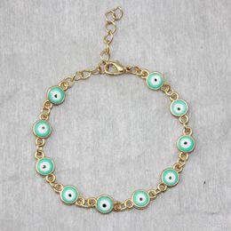 Malos encantos ojo azul en venta-La nueva pulsera plateada oro caliente del encanto del ojo mal de Turquía de Hamsa del tono de la joyería al por mayor caliente libera el envío
