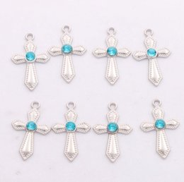 Sword Shaped Rhinestone Crystal Cross Charms 300pcs lot 12X20mm 6Colors Pendants Jewelry Findings & Components Fit Bracelets Necklaces