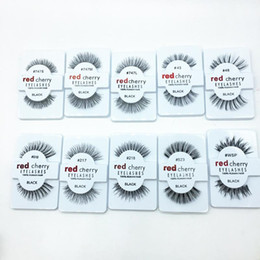 Wholesale 2016 hot Factory direct export red cherry red cherry handmade Natural false eyelashes Beauty Sale Free shining eyelash