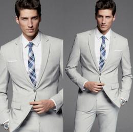 Compra Online Trajes de la astilla-Envío libre por encargo de la manera de la eslabonada de la manera de los esmoquin el mejor caballero de la boda del juego del hombre dos piezas (chaqueta + pantalones)