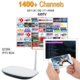 Wholesale Europe Arabic IPTV Apk Server Sky Program Canal Sport Channels Free Q1304 Iptv Box Arabic Smart Tv Box Quad Core Android