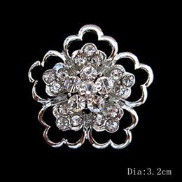 Sparkly Silver Crystal flower small pins brooches