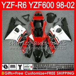 8Gifts 23Color For YAMAHA YZF600 YZFR6 98 99 00 01 02 YZF-R600 54HM10 YZF 600 YZF-R6 YZF R6 1998 1999 2000 2001 2002 Fairing kit