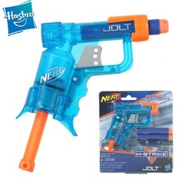 Wholesale Nerf Gun Hasbro Toys Nerf N Strike Shot Jolt Blasters Soft Bullet Gun Pistol Model Outdoor Toy Foam Darts Bullet Children Toys DHL Free