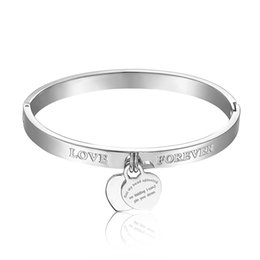 new arrival famous brands forever love design jewelry for women stainless steel carter bracelet & bangles best Christmas gift