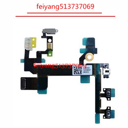 10pcs New Original or High quality Power Button Flex Cable for iPhone 5S Volume Button Flex Mute Silent Switch Repair Part