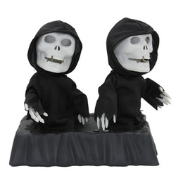 Wholesale New Listing Animated Double Dancing Reapers quot Tall Singing and Dancing Change Colors Halloween Haunted House Decorations