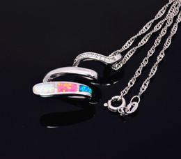 Wholesale & Retail Fashion Jewelry Fine Multi Fire Opal Stone Sliver Pendants For Women PJ17082709