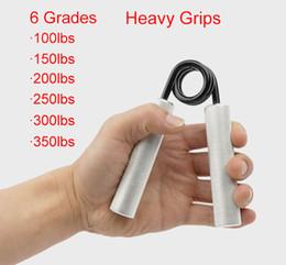 Ejercitador de agarre en venta-Hombre más fuerte 100 libras-350 libras Aptitud Grips pesados Recuperación de la muñeca Desarrollador Ejercitador de mano Dispositivo de entrenamiento de fuerza muscular