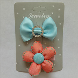 Children bowknot cute hair clips for girls baby headdress hairpin suits series of classic hair accessories kids headwear