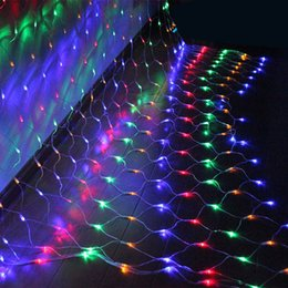 2017 rgb led net Vente en gros-1.5m conduit de la corde Net Lights papillon lampe décorative pour le parti Chrismas Tree Garden Accueil EU 220V budget rgb led net