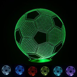 LED USB Powered 3D Night Light Fashion Football Christmas Decor Atmosphere Lamp For Party Holiday Festival Baby Kids Room Living Room