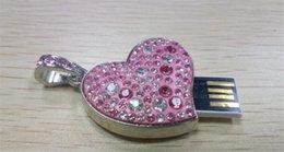 2017 usb chaud lecteur flash Chaud!! Nouveau coeur en forme de diamant 128 Go USB Flash Drive Pen Drive 128 Go USB 2.0 Flash Drive Stick Memory Stick Flash abordable usb chaud lecteur flash