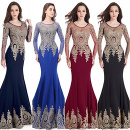 Designer Cheap 2017 Mermaid Sheer Long Sleeves Prom Dresses Jewel Lace Appliqued Sequined Illusion Sweep Train Evening Party Gowns CPS404