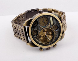 Wholesale New Oulm Luxury Brand Men Full Steel Watch Mens Sport Quartz Watches Antique Male Casual Clock Military Watch