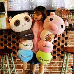 2017 oreillers panda en peluche Fancytrader 120cm Soft Animals Bunny Monkey Panda Elephant Pig Bear Oreiller Toy Giant Stuffed Cushion Doll oreillers panda en peluche sur la vente