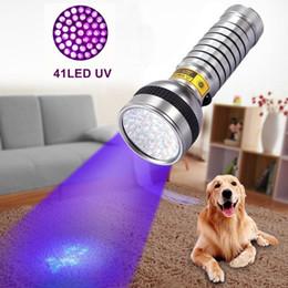 Alonefire 41 LED UV Flashlight Ultra Violet Flashlight UV Torch 41 LED Anti-fake Flashlight Hiking Torch