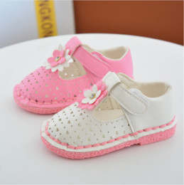 2017 Summer New Style baby flower square mouth baby toddler cute shoes newborn princess leisure soft bottom spring girl shoes