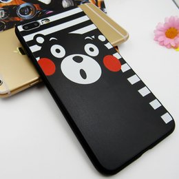 Wholesale Korean Set Phone - New high quality phone cases IPhone7 matte Korean mobile phone shell wholesale new Apple 7 painted relief protection set to figure