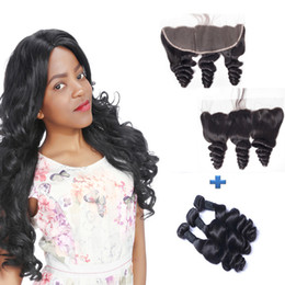 Resika 8A Brazilian Virgin Hair With 13*4 Lace Frontal Closure Loose Wave Virgin Human Hair 3 Bundles With Closure Fashion Hair