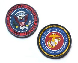 SEAL OF THE PRESIDENT OF THE UNITED STATES Patch DEPARTMENT OF THE NAVY MARINE CORPS PVC Rubber 3D Hook And Loop Tactical Badge