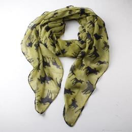 Wholesale New Women Cute Fashion Winter Moose Deer Animal Print Infinity Scarfs Snood For Ladies Christmas Gifts Black
