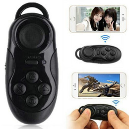 contrôleur bluetooth android gamepad Promotion Vente en gros - Mini Gamepad Bluetooth Gamepads Game Controller Joystick Selfie Remote Shutter Wireless Mouse pour iOS Android Smartphone TV Box