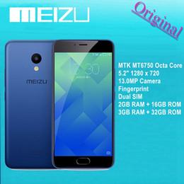 Wholesale Original Meizu M5 Mobile Phone GB GB MTK MT6750 Octa Core quot x MP Camera Cellular Fingerprint Dual SIM