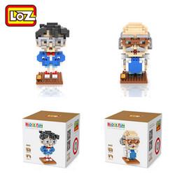 Promotion la figure conan LOZ Detective Conan Case Fermé Conan Edogawa Hershel Agasa Diamant Blocs de Construction Figurine Bricolage Enfant Décoration Enfant