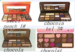 Factory Direct DHL Free Shipping New Makeup Eyes mix Chocolate Bar Sweet Bon Bons Semisweet Sweet Peach Eyeshadow Palette!4 Different Colors