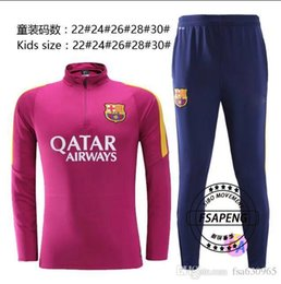 Wholesale Customized quality Barcelona children s training clothes good quality Barcelona children s training uniforms free shipp