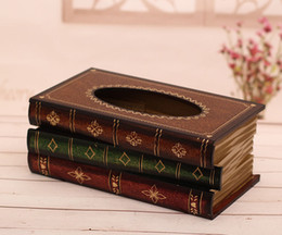 Wholesale Fashion creative tissue box European antique tissue box classics decoration