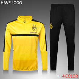 Wholesale BORUSSIA DORTMUN Tracksuit Uniforms Shirts Long Sleeve Training Jogging Soccer Sets Football Track Suit survetement Training Sweater