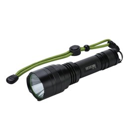 Super-bright 2000 Lumens LED Flashlight Torch Light with Tail Button Switch Controlled by 5-mode, Black(without battery)