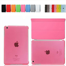 Smart Cover Magnetic Sleep Wake PU Leather Case+ Crystle Hard Back Case 9.7 Inch 7.9 Inch For Ipad 2 3 4 5 Mini mini 2 Ipad Air 100pcs
