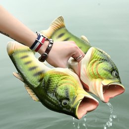 Emulational Fish Style Soft Sandals Beach Slippers Casual Shoes for Women Men Family Slippers Creative Type Handmade Personality Fish Kids