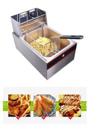 Wholesale Mini size L fryer machine commercial kitcken fryer chicken potato chips fryer snack machine wiith basket