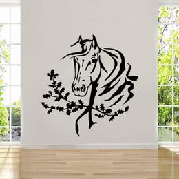 2017 Hot Sale Personality Art Wall Room Decor Art Vinyl Sticker Mural Decal Horse Head Mustang Big Large DIY