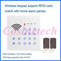 2017 sistema de etiquetas rfid Teclado sin hilos de la venta al por mayor-433 / 315MHZ RFID, teclado del teclado de la contraseña para el sistema de alarma casera del pstn del G / M, etiqueta de RFID Sistema de control de acceso auto-lock sistema de etiquetas rfid promoción