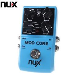 Compra Online Efectos de modulación-NUX MOD Core Efecto de Guitarra Pedal 8 Efectos de Modulación Preset Tone Lock Ture bypass Durable Guitar Accesorios de Piezas