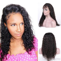Full Lace Human Hair Wigs With Baby Hair 130% Density Peruvian Deep Wave Remy Hair Wig With Natural Hairline Hand Tied Wigs