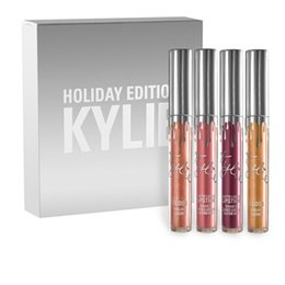 Wholesale Kylie Lipstick Matte lip Kit Gross Kylie Holiday Edition Jenner Silver Package Gloss Kylie Jenner Collection Cosmetics