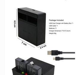 2017 usb gopro Cargador de batería del Li-ion Battery + USB de 2pcs 3.85V 1220mAh para el héroe 5 AHDBT501 de GoPro barato usb gopro